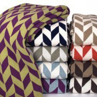 In2Green Eco Chevron Blanket - BL01CH1 - Blankets & Throws - Bed & Bath