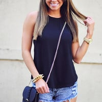 Fun And Fabulous Top: Black | Hope's