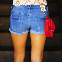 Rolling In The Deep Shorts: Denim Blue | Hope's