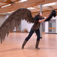 Huge charcoal colored crow\s wings by Geahk Burchill & gb Desig... | GeahkBurchill - Clothing on ArtFire