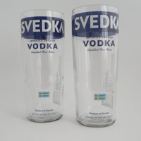 Svedka Vodka Bottle Big Drinking Glass Tumblers | BoMoLuTra - Housewares on ArtFire