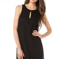 Delfina Keyhole Dress in Black - ShopSosie.com