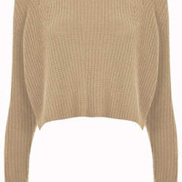 Knitted Rib Detail Crop Jumper - New In This Week  - New In