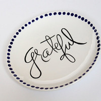 The Grateful Collection 6 Plate by AedrielOriginals on Etsy