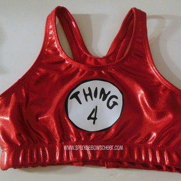 Thingy 4 Metallic Sports Bra Cheerleading by SparkleBowsCheer