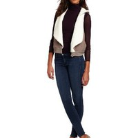 Amazon.com: Splendid Women's Sherpa Vest, Nutmeg, Small: Clothing