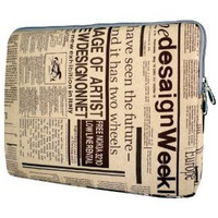 13 inch Newspaper Pattern Notebook Laptop Sleeve Bag