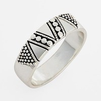 South Sun Geometric Etched Midi Ring   Nordstrom