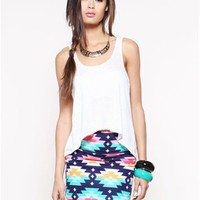 A&#x27;GACI Colorful Native American Bodycon Mini - Bottoms