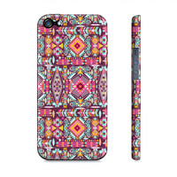Pink & Purple Aztec Tribal Girly Iphone 5 Case - Premium Slim Fit Iphone 5 Cover