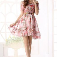floral frint chiffon elegant summer dress final sale l346 from YRB