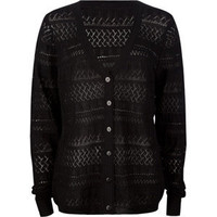 FULL TILT Essential Pointelle Womens Cardigan