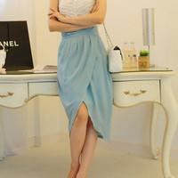 Sky blue chiffon tulip long skirt | Dressholic - Clothing on ArtFire