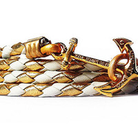 Anchor Bracelet - Royal Egret - by Kiel James Patrick