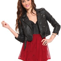 Cropped Moto Jacket - Outerwear - Clothes | GYPSY WARRIOR