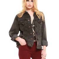 Boyfriend Jacket - Black Denim - Outerwear - Clothes | GYPSY WARRIOR