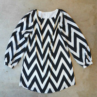 Quartz Creek Chevron Dress [4178] - $48.00 : Vintage Inspired Clothing & Affordable Summer Frocks, deloom | Modern. Vintage. Crafted.