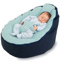 BayB Bean Bag For Infants and Toddlers (Blue/Blue)
