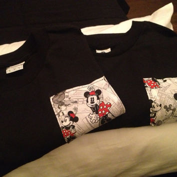 His and hers Mickey and Minnie shirts by HouseOfBalloonss on Etsy