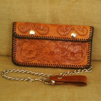 BIKERS WALLET Premier Edition Saddle Tan   APHCustomLeather - Accessories on ArtFire