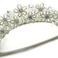 Tilleyjewels Bride May Flowers Bridal Tiara Headpiece | tilleyjewels - Wedding on ArtFire