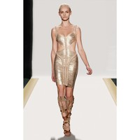 Herve Leger Cora Braided Bandage Dress - &amp;#36;260.00