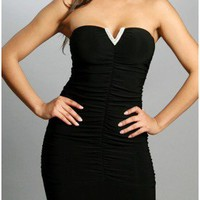 The Strapless Black Night Dress
