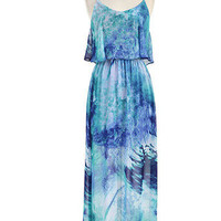 Make Waves Open Back Maxi Dress - Blue -  $54.00 | Daily Chic Dresses | International Shipping