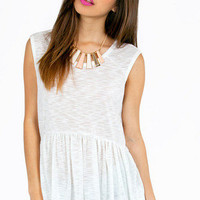 Loosely Peplum Tank Top $28