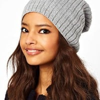 ASOS Short Rib Knit Beanie at asos.com