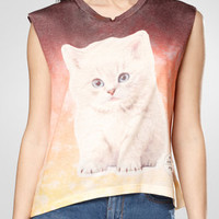 Kitty Snowball Sleeveless Tee