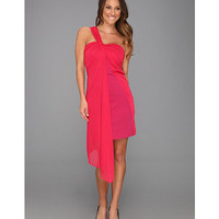 Halston Heritage One Strap Ponte Dress with Overlay Raspberry - Zappos.com Free Shipping BOTH Ways