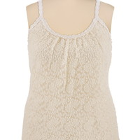 Crochet Trim Lace Tank