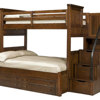 Jefferson Twin over Full Stairway Bunk Bed