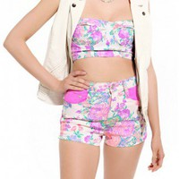 MINKPINK Electric Field Waisted Shorts