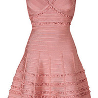 Hervé Léger - Lilian Dress in Blush Powder