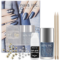 nails inc. Bling It On Denim and Studs: Nail Sets | Sephora