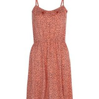 New Look Mobile | Teens Coral Heart Print Strappy Dress