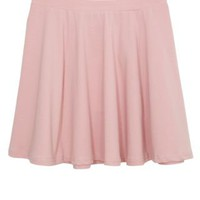 New Look Mobile | Teens Shell Pink Jersey Skater Skirt