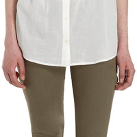 Joie Pleated Tab-Sleeve Shirt at Barneys.com