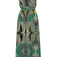 Green graphica maxi dress