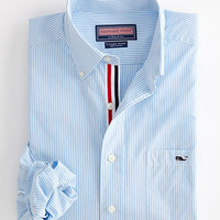 Men's Button Down Shirts: Tucker Sport Shirt: Edgartown Stripe – Vineyard Vines