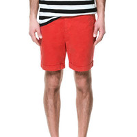 LEATHER APPLIQUÉ BERMUDA SHORTS - Bermudas - Man | ZARA United States