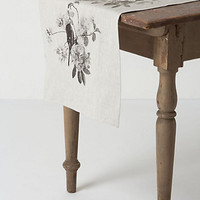 Grayscale Trellis Table Runner