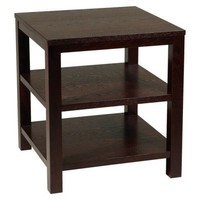 "Merge Square End Table - Espresso (20"")"