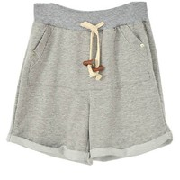 Grey Sweat Short with Rolled Cuffs