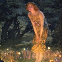 Midsummer Eve Painting by Edward Robert Hughes - Midsummer Eve Fine Art Prints and Posters for Sale