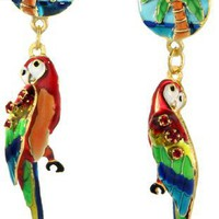 Lunch at The Ritz 2GO USA Parrot Snack Earrings Posts