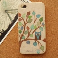 Handmade Owl and Cat iPhone Case