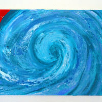 Abstract Wave Painting - Bathroom Decor - Acrylic Paintings - SamIamArt
